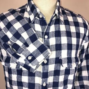 J. Crew Shirt Baird McNutt Irish Linen Men L